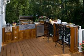 set cabinet full mini summer: diy outdoor kitchens pergola with wooden kitchen set cabinet and stainless grill also black metal