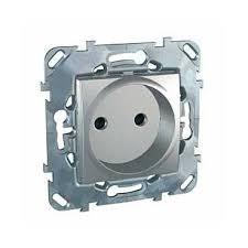 <b>Розетка</b> 2P со шторками алюминий Unica Top <b>Schneider Electric</b> ...