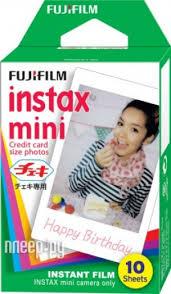 Купить <b>Fujifilm Glossy 10</b>/PK для Instax mini 8/7S/25/50S/90 ...