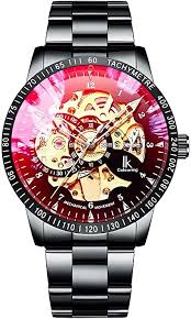 IK Men's Watch Skeleton Automatic Mechanical ... - Amazon.com