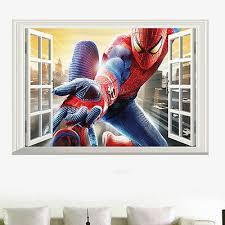 Человек-паук <b>3D</b> окно настенное искусство <b>наклейка</b> ...