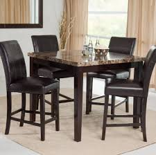 dining room tables chairs square: dining room stunning tall kitchen table with marble top and leather chairs how to