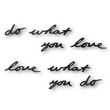 <b>Надпись декоративная Do what</b> you love настенная черная