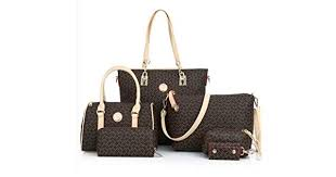 6 Pieces Set <b>Women</b> Handbag Fashion Tote <b>Crossbody Bag</b> Ladies ...