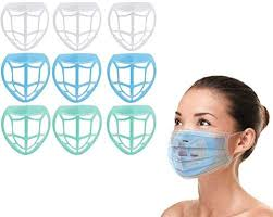 9 Pcs <b>3D Face Mask</b> Bracket <b>Inner</b> Support Frame to Breath, Plastic ...
