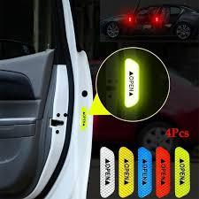 <b>4Pcs</b>/<b>set DIY</b> Car <b>Door</b> Sticker Car with Reflective Warning Tape ...