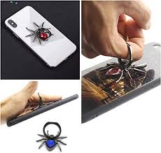 Ash B Universal Luxury <b>Metal Spider Bling</b> Finger Ring <b>Holder</b> 360