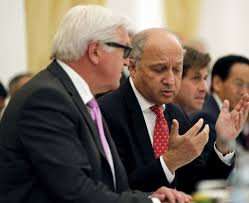 could a broken windows policing strategy work for the deal french foreign minister laurent fabius talks to german foreign minister frank walter steinmeier during a meeting