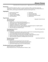 installation repair resume examples installation repair diesel mechanic resume example