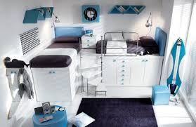 funky teenage bedroom furniture  amazing teenage bedroom with loft bed and wardrobe and surf board under bed and black carpet