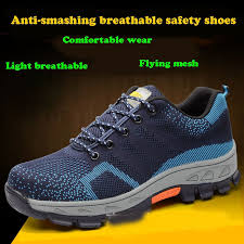 Men combat Boots Work Safety Shoes <b>Steel Toe Cap Anti-Smashing</b> ...