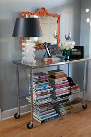 stainless kitchen work table: stainless steel kitchen work table as a foyer table