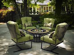 black wrought iron patio furniture with green deep seat cushion charis and small round table black wrought iron table