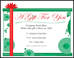 gift certificate template templates and template it