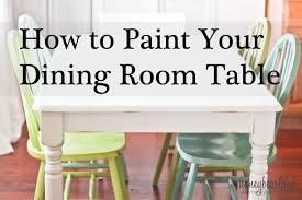 Of Painted Dining Room Tables 1000 Images About How To Paint A Dining Room Table On Pinterest