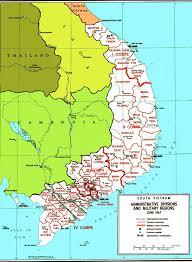 vietnam war resources rvn corps provinces map