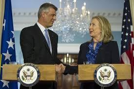 Clinton und Thaci