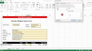 excel quote form excel quote form