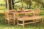 Фото деревянной садовой мебели