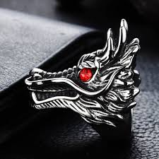 2017 <b>new hot sale</b> Dragon Head Rings For Men <b>Punk</b> Rock Style ...