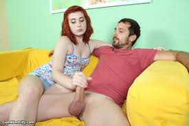 Shy redhead Sadie Kennedy gets her hands on the hard rod and makes.