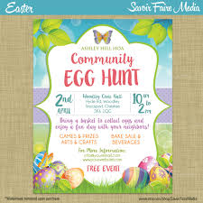 easter egg hunt flyer invitation poster template church 128270zoom