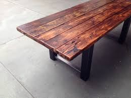 Rustic Wood Dining Room Table Image Of Reclaimed Barn Wood Table Transitional Square Dining