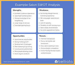 use this example salon swot analysis to help you define your salon use this example salon swot analysis to help you define your salon remember you need