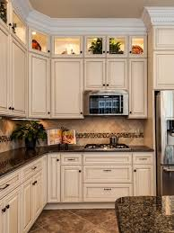 cute brown cabinets dark countertop