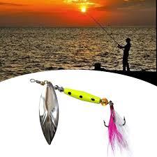 2pcs/set Spinner Fishing Lures Wobblers CrankBaits Jig Shone ...