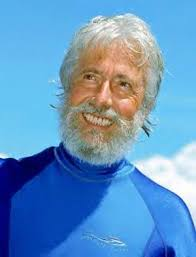 "Jean-Michel Cousteau was first ""thrown overboard"" by his father, oceanographer Jacques Cousteau, at the age of seven. - g8396_u7962_cousteau"