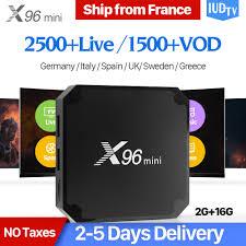 X96 mini <b>IPTV Spain Box Android</b> 7.1 2GB 16GB S905W 4K WiFi ...