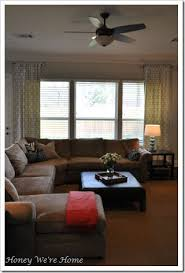 short long curtains living room idea two short rods instead of one long perfect for living room