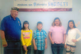 cou fifth grade students participates in american legion flag cou essay winners