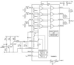 tda8947j_typical application reference design audio power on 4 x 16 decoder schematic