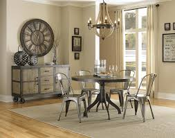 casual dining chairs with casters: magnussen home walton rustic casual dining table with natural