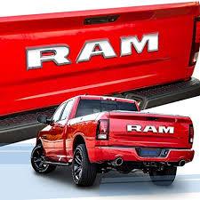 SUPAREE RAM Tailgate Letters Insert <b>3D</b> Raised High Grade <b>ABS</b> ...