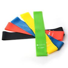 <b>5 Colors Yoga Resistance</b> Bands 0.35mm 1.1mm Rubber Belt Loop ...