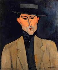 """Portrait of a Man with Hat (aka Jose Pacheco)"" - AMEDEO-MODIGLIANI-PORTRAIT-OF-A-MAN-WITH-HAT-AKA-JOSE-PACHECO-"
