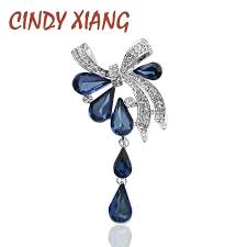 <b>CINDY XIANG New Arrival</b> Fashion Bow Brooches for Women ...