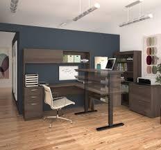 bestar l shape desk with hutch electric height adjustable table with digital control bestar embassy corner desk