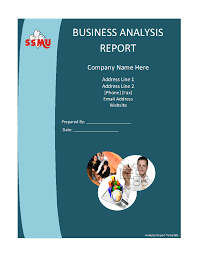 business analysis report template formats excel word business analysis report template