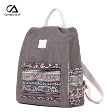 <b>Canvasartisan Women's</b> Canvas Backpack Retro Style Floral School ...
