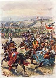 battle of cre ccedil y the charge of the french knights at the battle of creccedily on 26th 1346 in