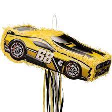 Pull String Yellow Race <b>Car</b> Pinata 9 1/2in x 19in - <b>Hot</b> Wheels ...