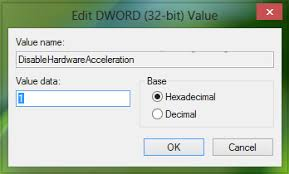 Turn off Hardware Graphics Acceleration in Office 2016/13