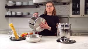 12 Qt. Pasta/Steamer Set (<b>4 Piece Set</b>) Demo Video (77-412 ...