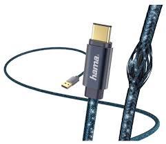 Купить <b>Кабель HAMA</b> USB - USB Type-C <b>Glitter</b> (<b>00183206</b>) 1.5 м ...