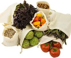 Simple Ecology Organic Cotton Muslin <b>Produce</b> Bag - Set of 6 (2 ...