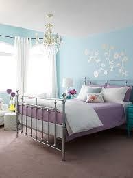 ideas light blue bedrooms pinterest: suzie margot austin blue amp purple girls bedroom design with blue walls with silver